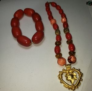 3/$15 Catherine Stein Signed Heart Necklace